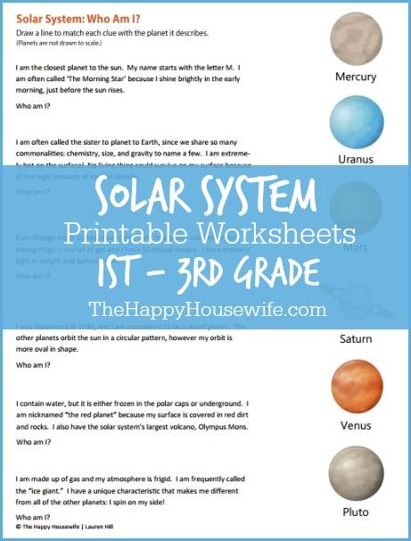 Solar System Worksheets  Free Printables