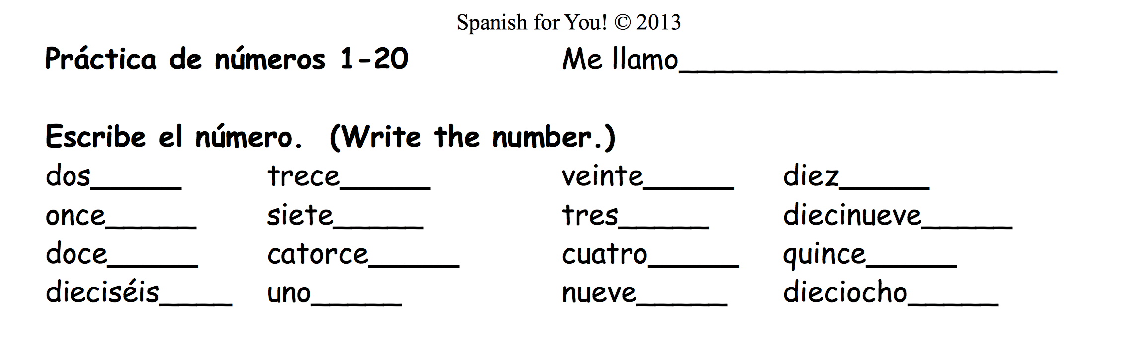 Spanish Kindergarten Worksheets 92238
