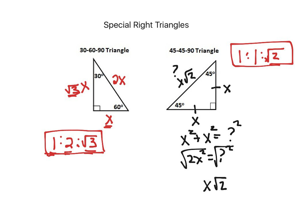 Special Right Triangles Worksheet Puzzle Math 1057096