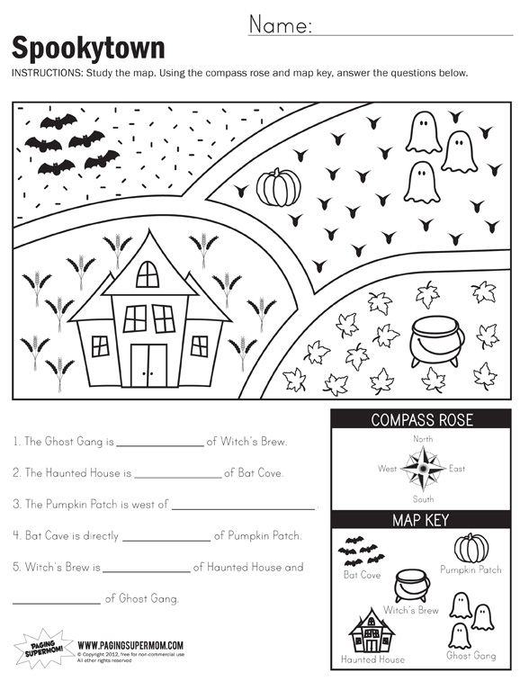 Spookytown Map Worksheet