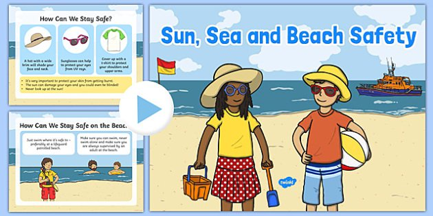 Sun, Sea And Beach Safety Information Powerpoint