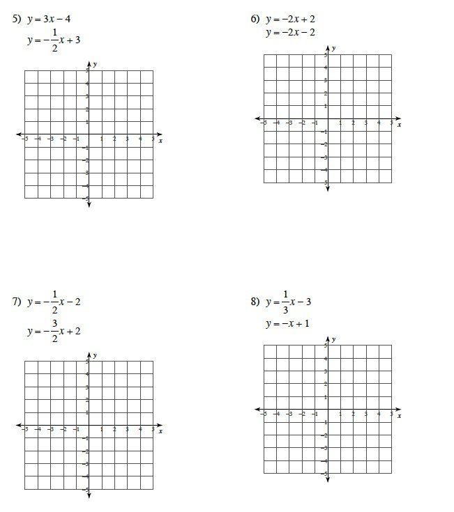 Systems Of Equations Graphing And Substitution Worksheet 476936