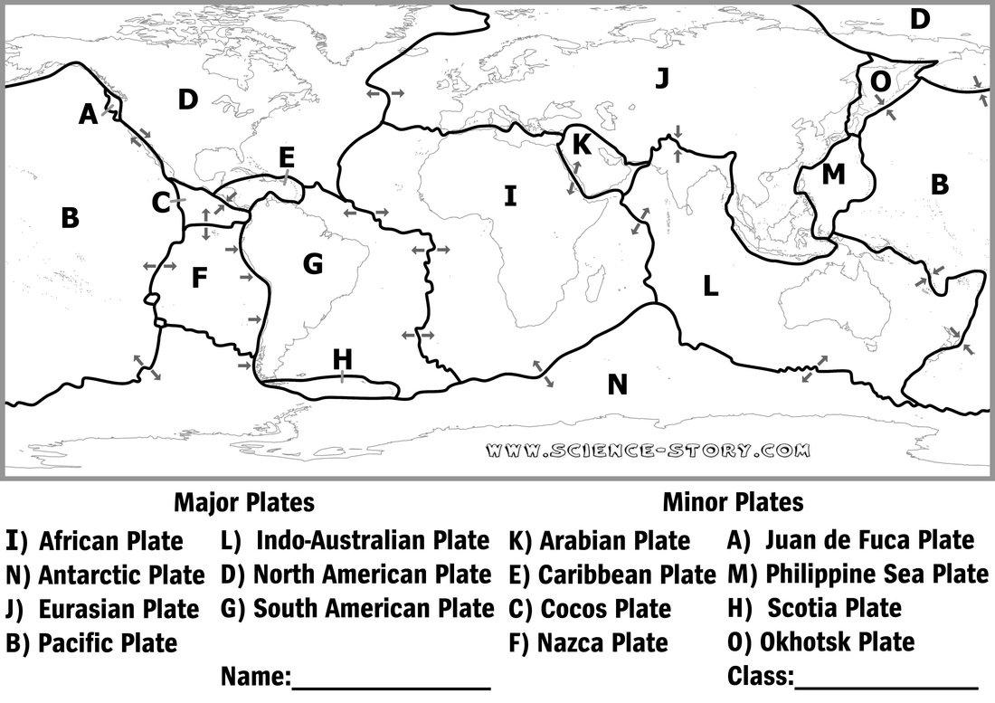 Tectonic Plate Worksheet 848796