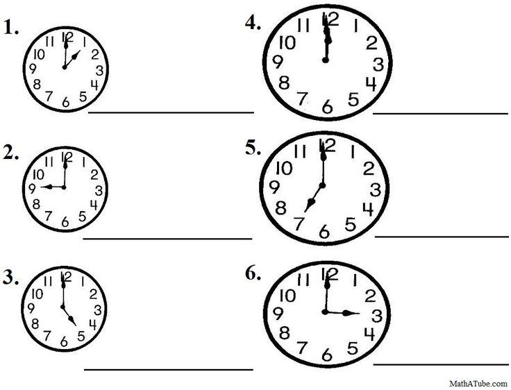 Telling Time Worksheets Printable Pdf 123975
