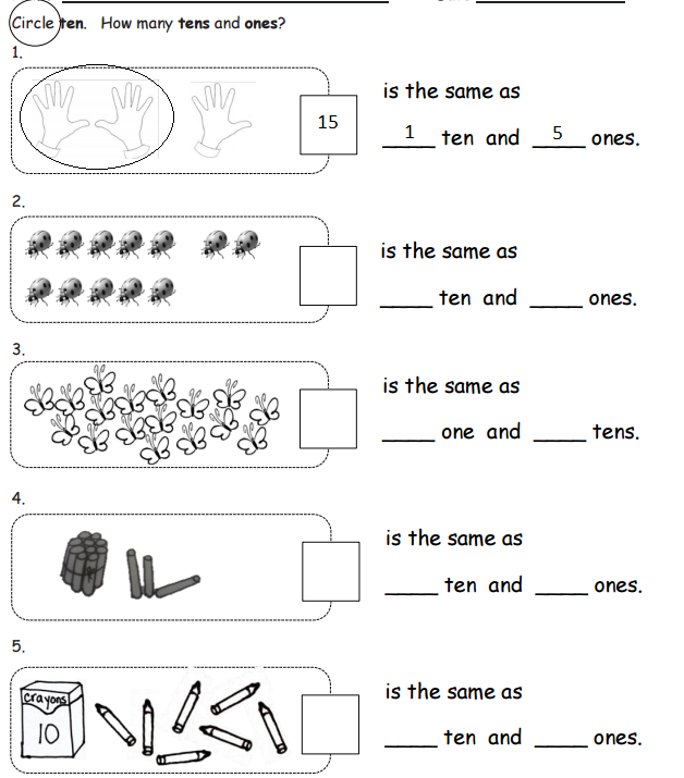 Tens And Ones (examples, Solutions, Worksheets, Activities, Songs