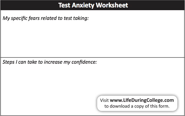 Test Anxiety Worksheets The Best Worksheets Image Collection