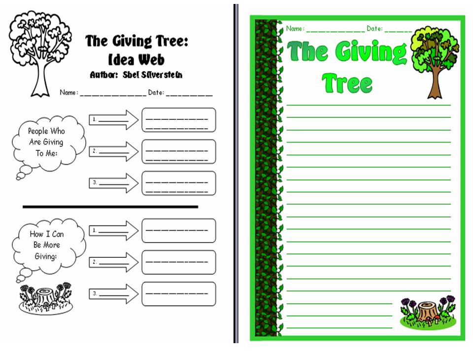 The Giving Tree Worksheets 1401410