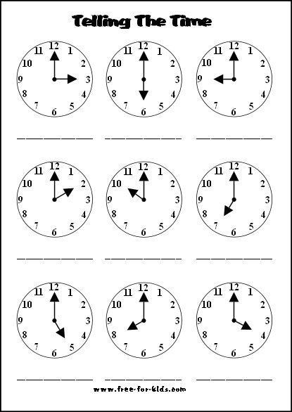Time Activity Sheets