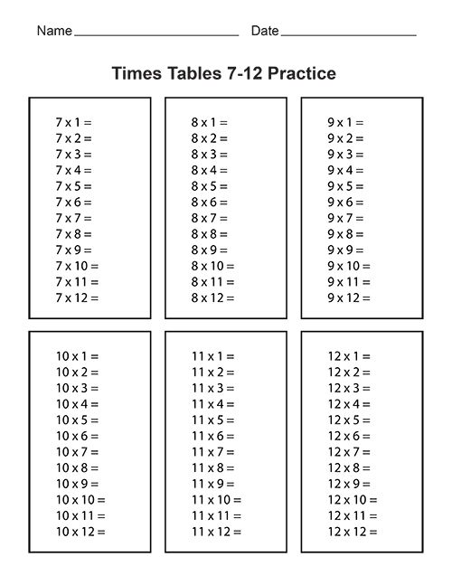 Time Tables Worksheets Printable The Best Worksheets Image