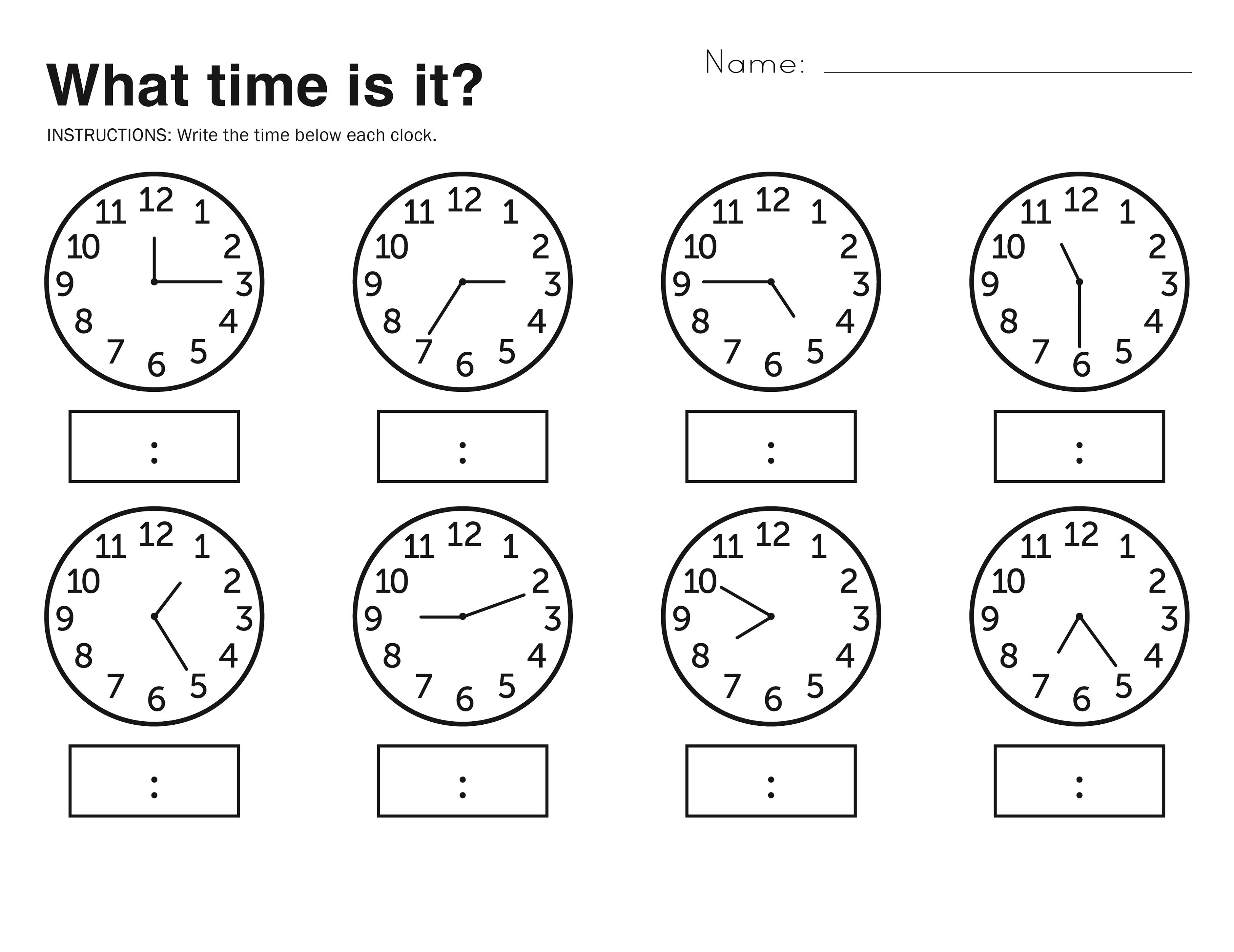 Time Worksheets Math The Best Worksheets Image Collection