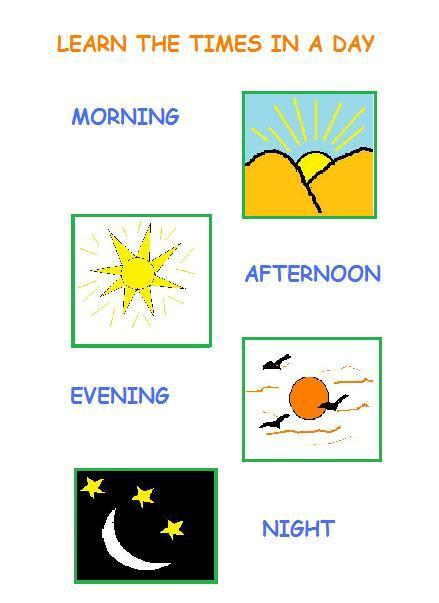 Times Of Day Worksheets The Best Worksheets Image Collection