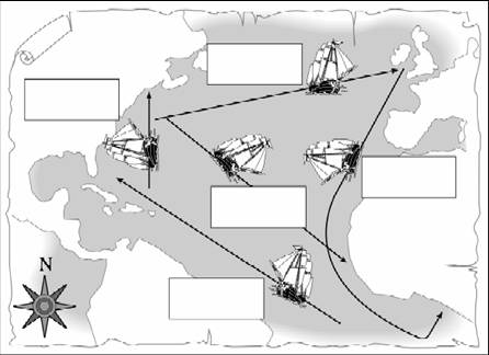 Triangular Trade Route Worksheets