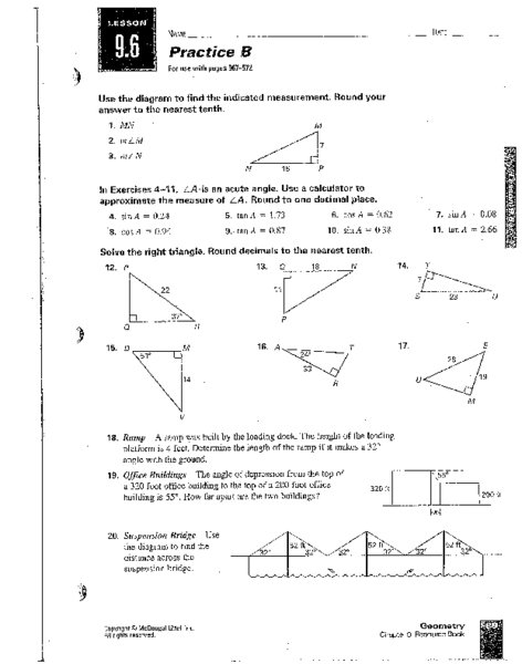 Trig Practice Worksheet 235491