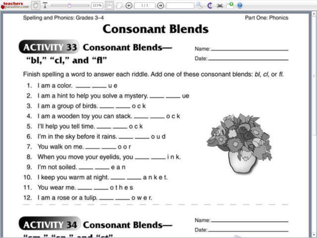 Triple Blends Worksheets  Worksheet  Free Printable Worksheets
