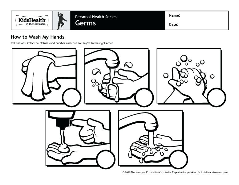 Washing Hands Coloring Page Free Printable Coloring Page To Teach