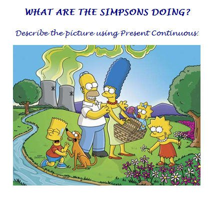 What Are The Simpsons Doing  Present Progressive Worksheet
