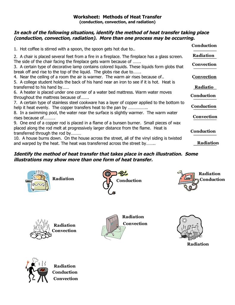 Worksheet On Heat Transfer 975967