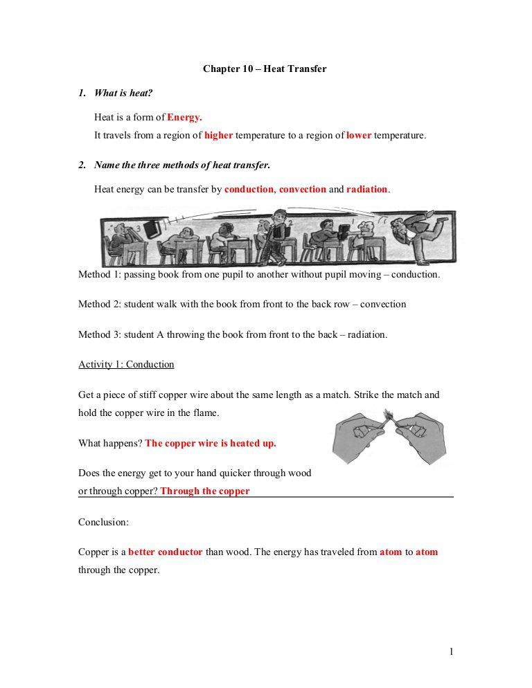 Worksheet On Heat Transfer 975991
