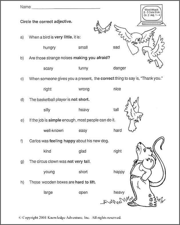 Worksheets For 2nd Grade English 764370
