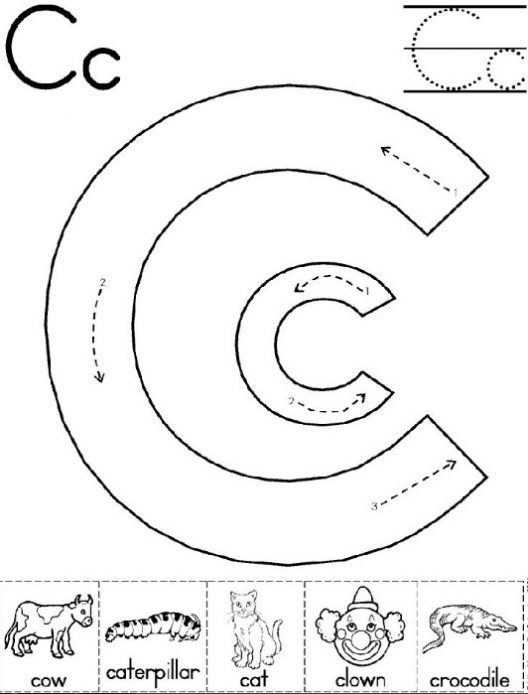 Worksheets For Letter C For Kindergarten 498600