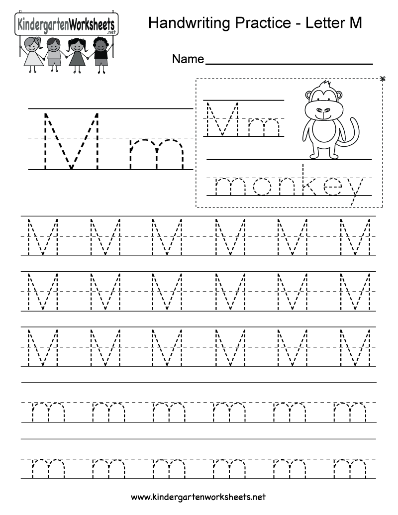 Worksheets For The Letter M Kindergarten 403408