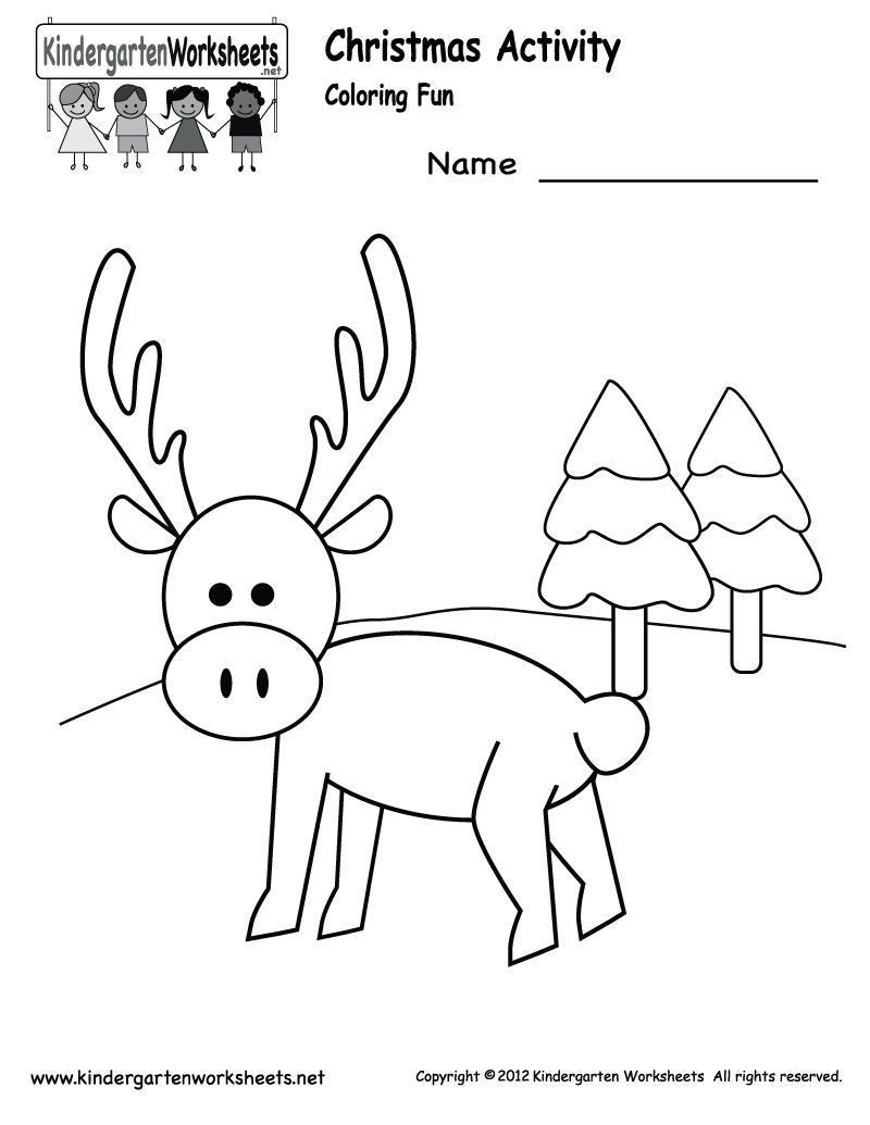 Worksheets Kindergarten Christmas 646030