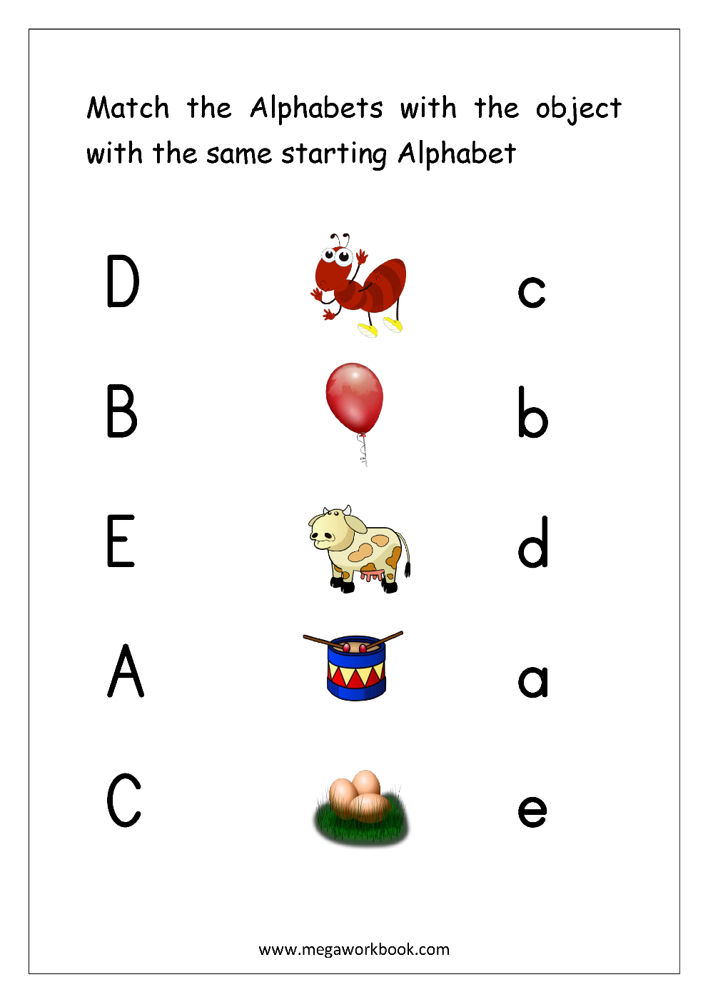Worksheets On Alphabets For The Best Worksheets Image Collection