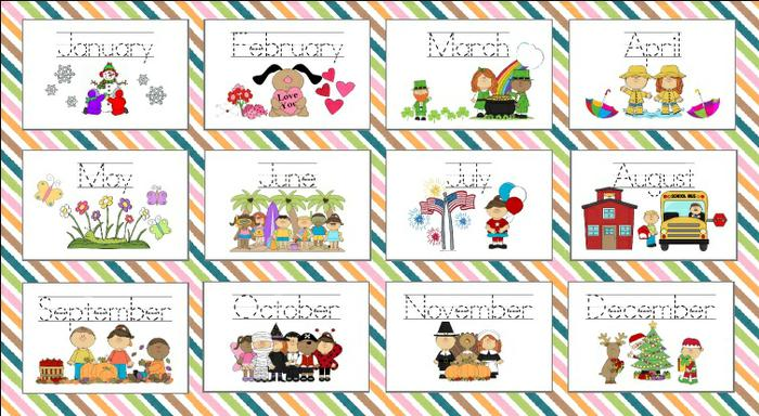 Worksheets On Months Of The Year Kindergarten 78056