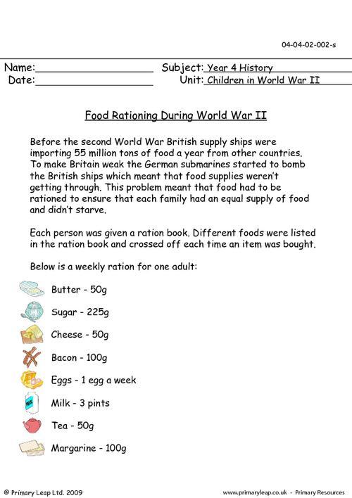 World War 2 Worksheets Free Children In World War Ii Printable
