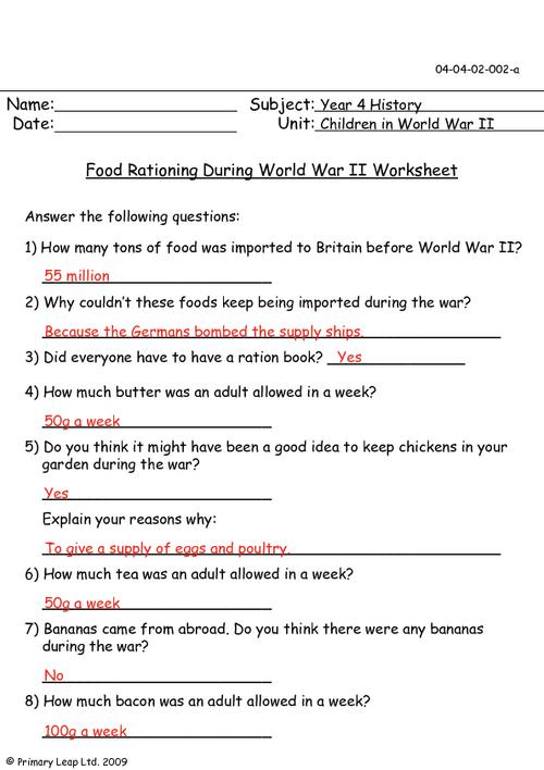 World War 2 Worksheets World War 2 Worksheets Worksheets For All