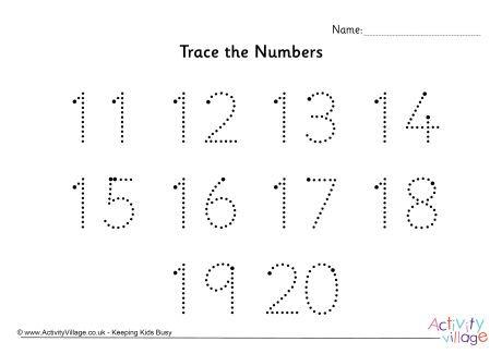 Writing Numbers 11 20 Worksheets Kindergarten 883137