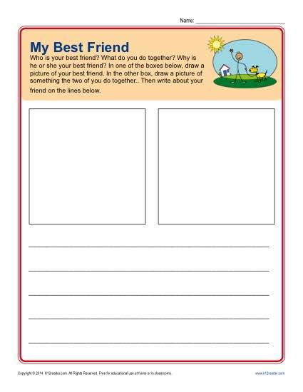 Writing Prompt For Kindergarten