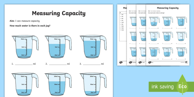Year 2 Measure Volume Differentiated Worksheet   Activity Sheets