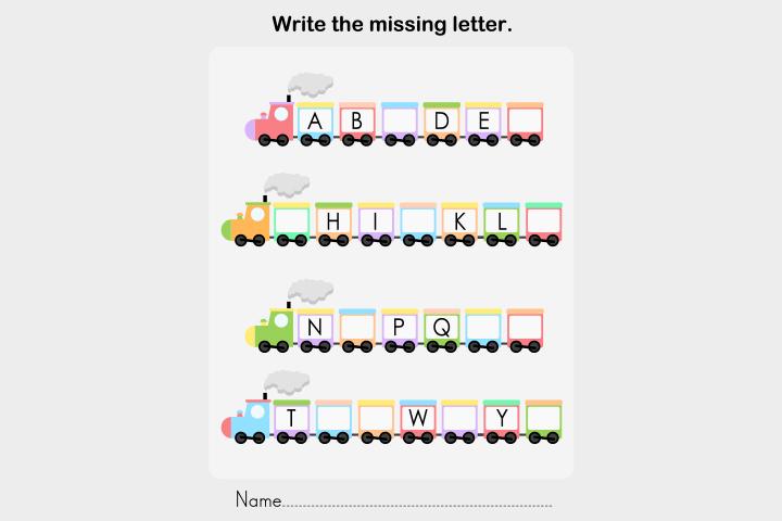 10 Free English Worksheets For Kids, Missing Letter Worksheets