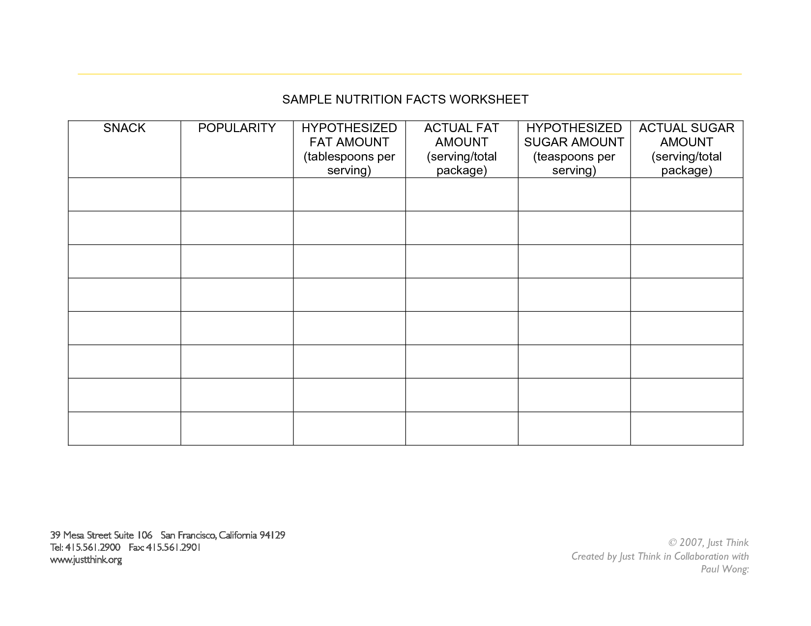 15 Best Images Of Blank Food Label Worksheet