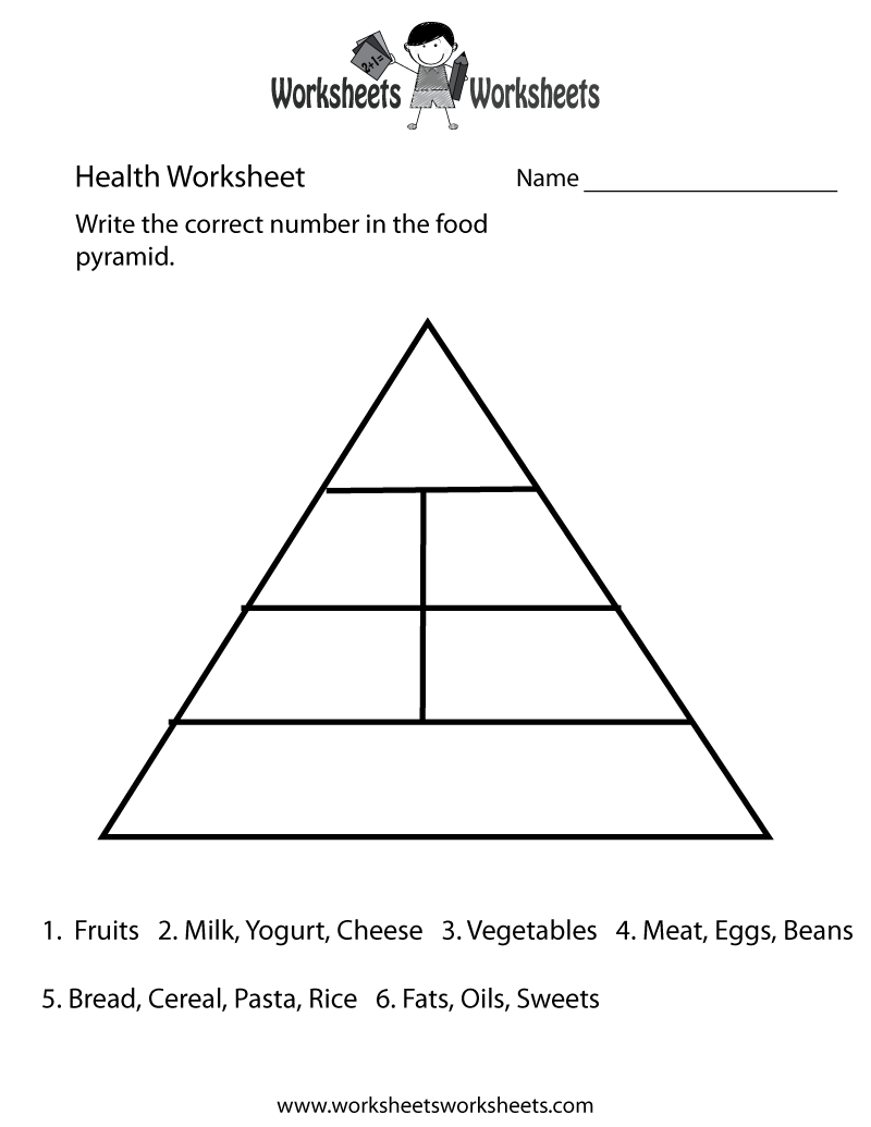 15 Best Images Of Healthy Food Worksheets Printable Free