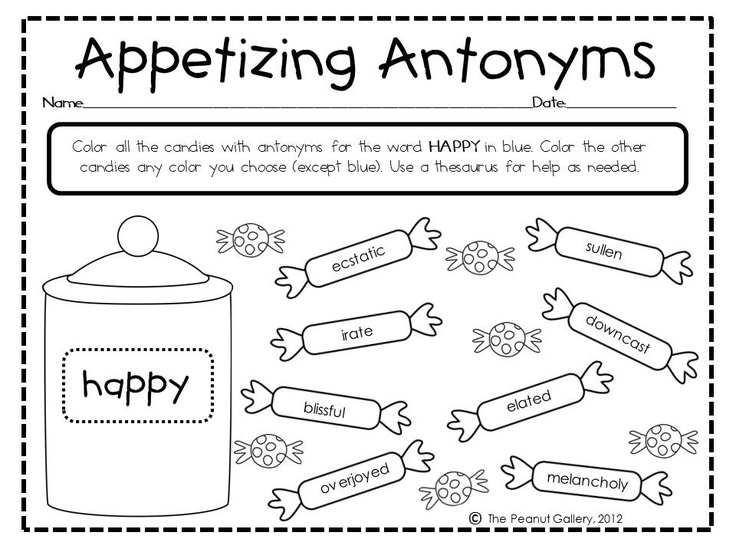 17 Best Images Of Antonyms Worksheets First Grade