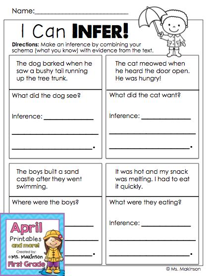 1st Grade Inferences Worksheets The Best Worksheets Image