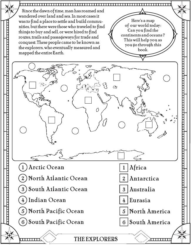 25 Best Ideas About Continents And Oceans On Free Worksheets Samples, World