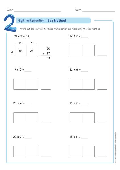 2 Digit Multiplication Worksheets 4th Grade