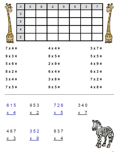 3s And 4s Multiplication Worksheets Free Multiplication Worksheet