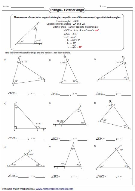 43 Great Finding Missing Angles In Triangles Worksheet