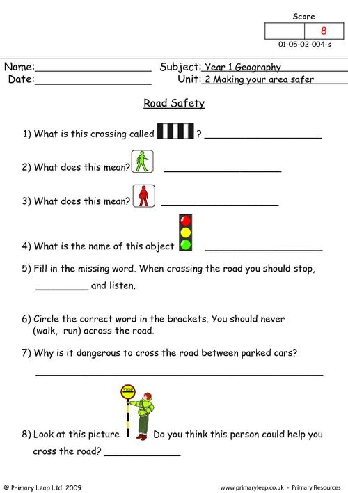 46 Safety Signs Worksheets, Road Safety For Kids Worksheets