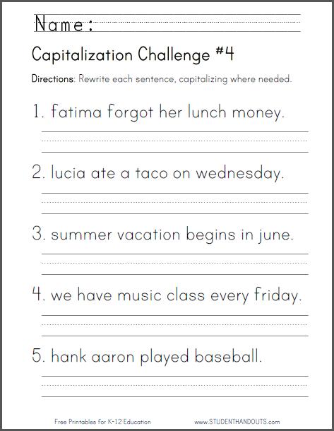 47 1st Grade Grammar Worksheets, What Does It Look Like  Worksheet