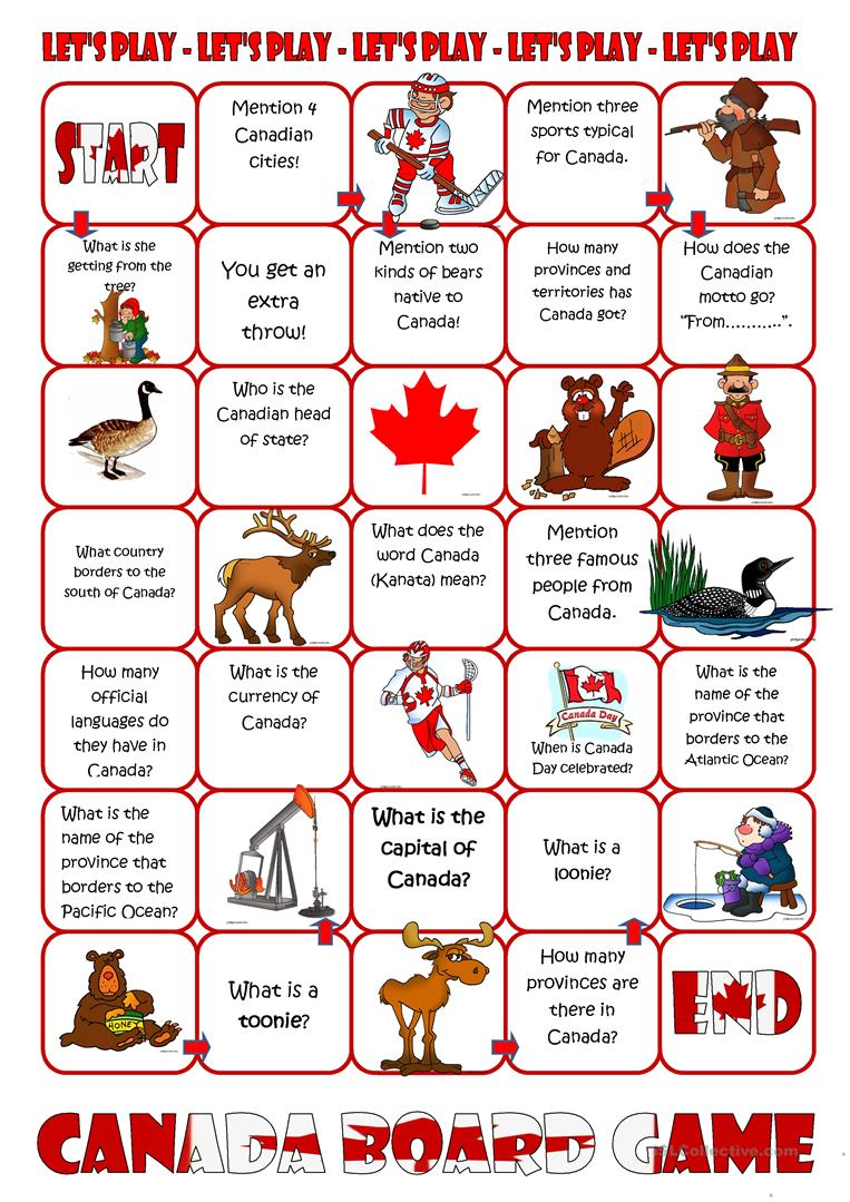 48 Free Esl Canada Worksheets