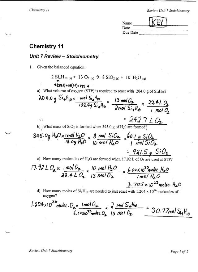 49 Fantastic Limiting Reactant Worksheet Answers