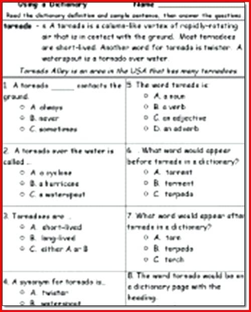4th Grade Reading Comprehension Worksheets Free Grade Reading