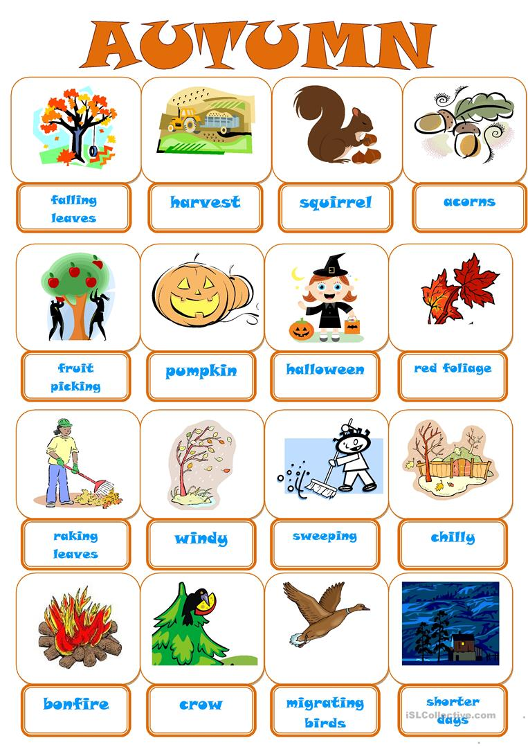 65 Free Esl Autumn Worksheets