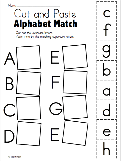 Alphabet Match A To E – Free Worksheets