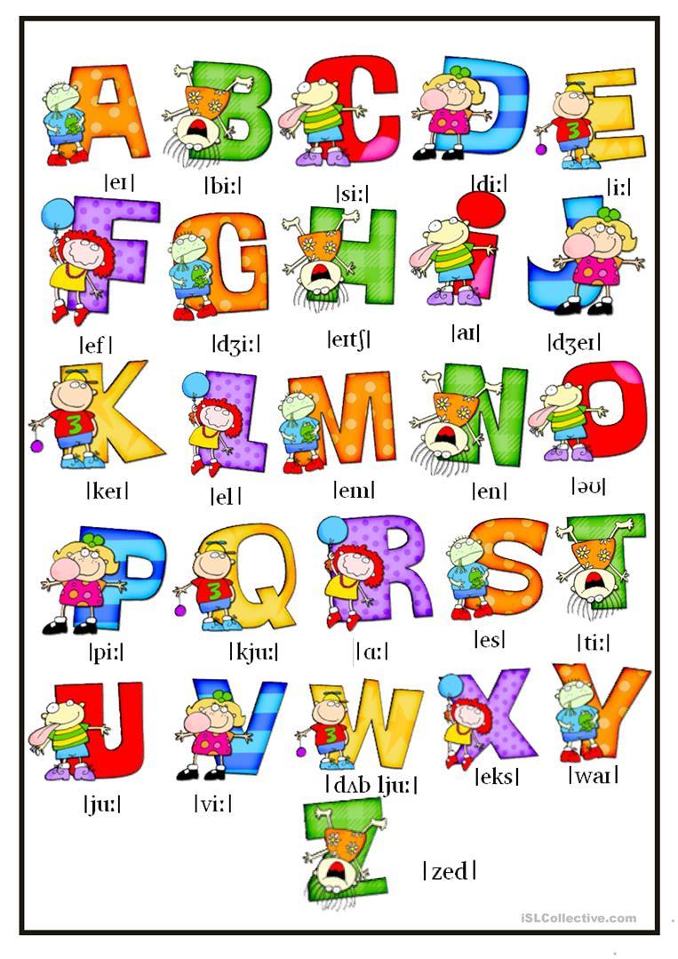 Alphabet Worksheets Pdf Esl 1125433